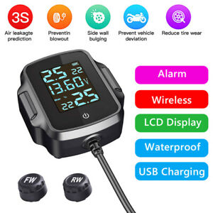 Motorcycle Tpms Tire Pressure Monitoring System With Qc 3 0 Usb Charger