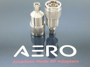 Aero High Performance Type N Male To 3 5mm Male Adapter 18 Ghz 100 Made In Usa
