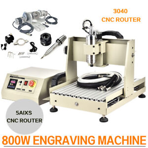 Usb 800w 5 Axis 3040 Cnc Router Engraver Drilling Milling Machine Handwheel Us