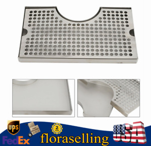 Surface Mount Stainless Tap Draft Beer Kegerator Tower Drip Tray No Drain New Us