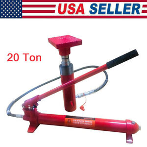 20 Ton Power Hydraulic Jack For Auto Truck Shop Heavy Duty Repair Tool Kit Us