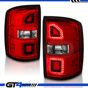 For 2014 2018 Gmc Sierra 1500 2500hd 3500hd Led Red Replacement Tail Lights