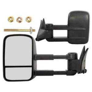 Lh rh Manual Telescopic Towing Mirrors For 1988 00 Gmc Chevy K2500 K3500 Truck