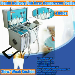Portable Mobile Dental Delivery Unit System Treatment Equipment 4h Slow Suction