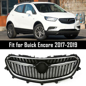 For 2017 2018 2019 Buick Encore Grille Front Bumper Upper Grill Chrome Black Us
