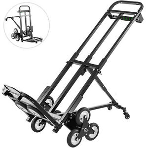 Stair Climbing Cart Portable Folding Trolley 460lbs Hand Truck W Backup Wheels
