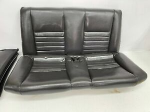 1999 2004 Oem Ford Mustang Convertible Rear Seat Back Leather Gt Charcoal t44