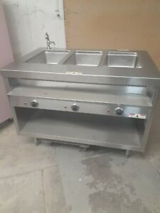 Randell Custom 2 Well Steam Table With Sink And Heater Booster Model 31348