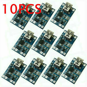 10 5v Charging Board Mini Usb 1a 18650 Tp4056 Lithium Battery Charger Modules