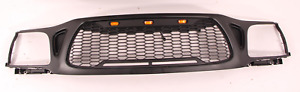Fits For 2001 2004 Toyota Tacoma Front Grille Honeycomb Mesh Style With 3 Led