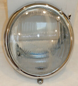 New Vw Headlight Assembly 111 941 037 H1 Fluted Cibie Lens 1946 1966 Vw Beetle