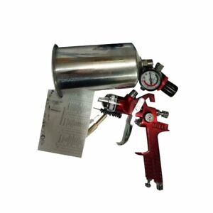 1 4mm Auto Primer Basecoat Clearcoat Hvlp Gravity Feed Spray Gun Tool Red