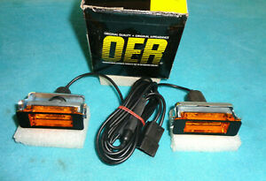 1968 69 Charger Hood Turn Signal Indicators Complete Set Up Oer Brand New In Box