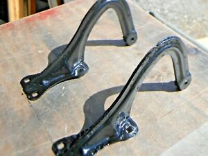 1937 Chevy Coupe Trunk Lid Hinges Original Pair Sanded And Painted Gloss Black
