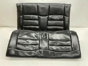 1994 1998 Oem Ford Mustang Convertible Black Leather Rear Seats Back T129