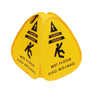 Pop up Caution Wet Floor Sign 16in For Restaurant Commercial And Industrial Saf