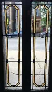 2 Of 8 1920 S Stained Leaded Glass Doors Windows 47 By 13 Transom