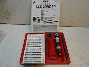 Lee 30 30 Winchester hand loader loading chart and ins reloading $100.00