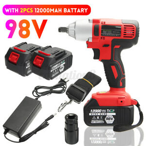 98v Cordless Electric Impact Wrench Brushless Impact Drill Power Tools W battery