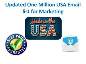 Updated One Million Usa Email List For Marketing
