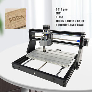 3 Axis 3018 Pro Laser Cnc Router Engraving Pcb Wood Diy Milling Drilling Machine