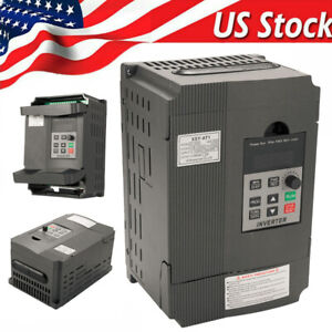 2 2kw Variable Frequency Drive 220v 12a Single To 3 Phase Vfd Inverter Us O2h9