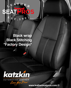 Katzkin Leather Seat Covers 2007 13 Chevrolet Silverado Crew Extended Cab Black