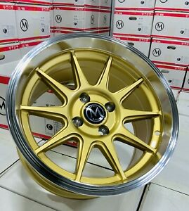 15x8 4 100 20 Gold Face Machine Lip Fits Acura Integra Gsr Dc2 15x8 5 Set 4