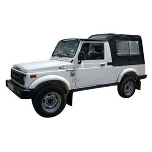 Suzuki Samurai Sj410 Sj413 Gypsy Black Soft Top Roof Hood Cover