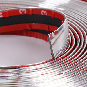 Cars Chrome Molding Trim Styling Strip Protection Ornament Body Doors Line 12ft