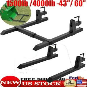 1500lbs 4000lbs 60 Clamp On Bucket Pallet Forks For Tractor Skid Steer Loader