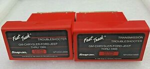 1995 Snap On Mt2500 Scanner Us Domestic Troubleshooter Transmission Cartridges