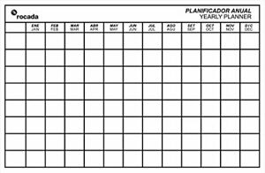 Rocada Visualline Skin Magnetic Dry Erase Board Yearly Planner Grid 29 5 X 45