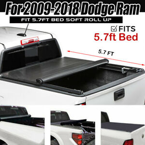 New Roll Up Tonneau Cover For 2009 2018 Dodge Ram 1500 Crew Cab 5 7ft Short Bed