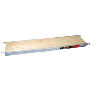 7 Ft X 19 In Aluminum Scaffold Platform With Plywood Deck