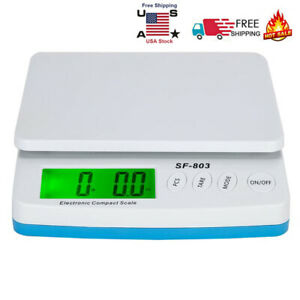 30kg 1g Scale Digital Lcd Shipping Mail Packages Weigh White With Adapter Us