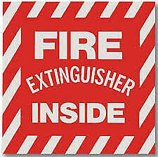 pack Of 10 fire Extinguisher Inside Self adhesive Vinyl Sign s 4 X 4