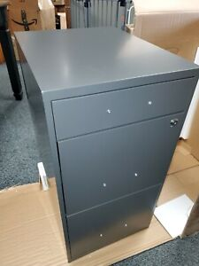 3 Drawer Metal File Cabinet With Lock Charcoal Pencil Drawer
