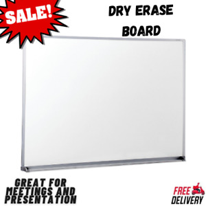 Dry Erase Board Office Whiteboard Satin finished Aluminum Frame 48 X 36 Sale