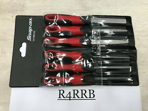 Snap on Tools Prt New 6pc 4 Red Soft Grip Handle Mini File Set Sgfmn106 W pouch
