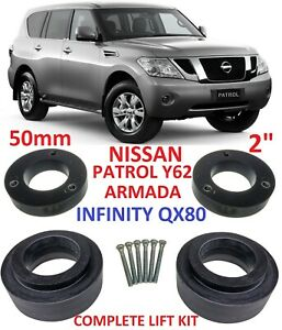 Lift Kit For Nissan Patrol Armada Y62 Infinity Qx80 2 50mm Strut Coil Spacers