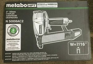 New Metabo N5008ac2 7 16 Crown Construction Sheathing Stapler Free Shipping