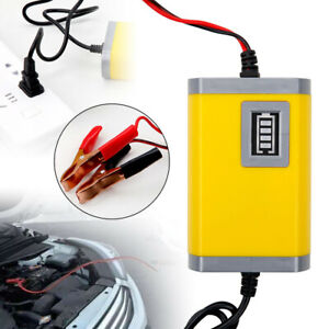 New 12v 2a Auto Car Battery Charger Tender Trickle Maintainer Boat Motorcycle Us