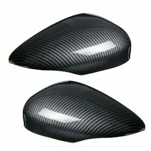 Car Auto Carbon Fiber Side Rear Door Wing Mirror Cover Parts For Ford Fiesta Mk7