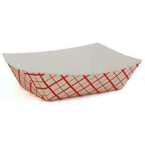 2 Lb Red Plaid Paper Food Tray