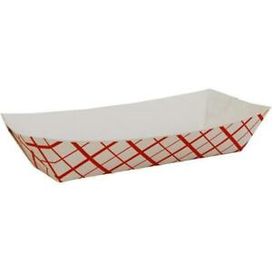 7 Lb Red Plaid Paper Food Tray
