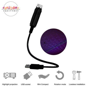 Led Car Roof Lights Purple Projector Star Night Atmosphere Starry Sky Lamp 26cm