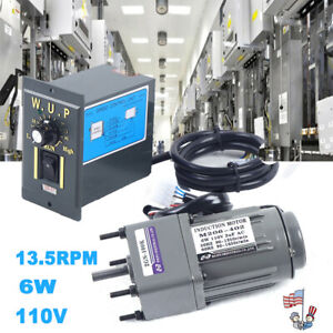 110v Reversible Ac Gear Motor Electric W variable Speed Controller 100k 13 5rpm