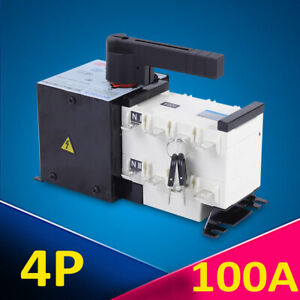 Automatic Transfer Switch 4p 100a Dual Power For Generator Changeover Switch