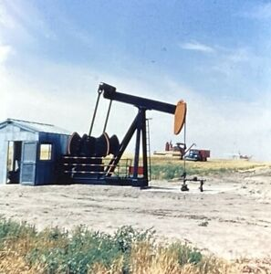 1951 Four Realist Stereo Slides Oil Drilling Rig Pump jack And Gushers